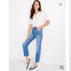 Madewell 2019 Classic Straight Jeans Novello Wash